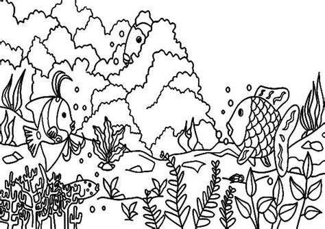 Clipart Of A Sketched Reef by Pages Coral Reef Coloring Pages