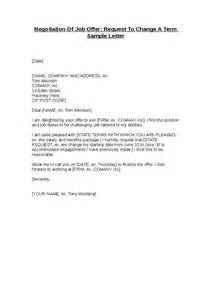Offer Letter Request Negotiation Of Offer Request To Change A Term Sle Letter Hashdoc