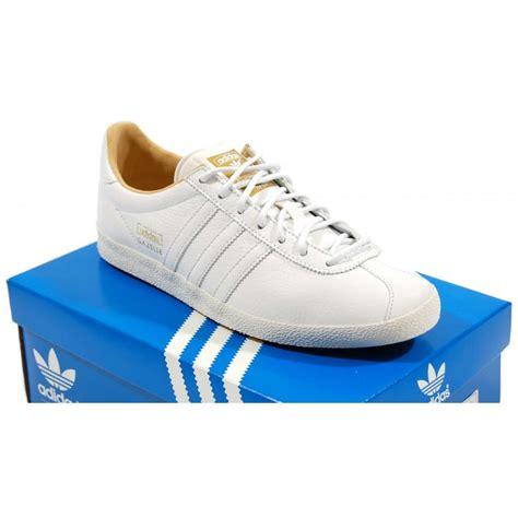 Adidas White Premium adidas originals gazelle og premium white mens shoes from attic clothing uk
