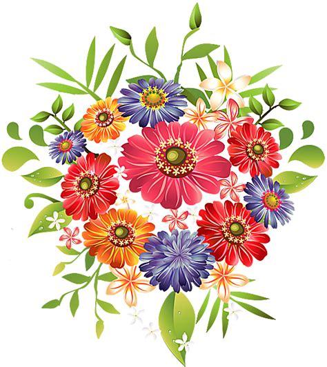 a bouquet of summer flowers clip art