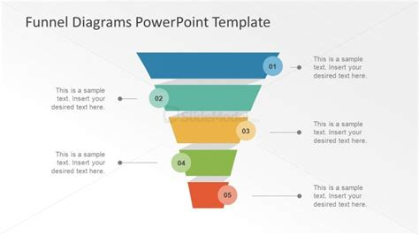 4 Step Funnel Diagram Vector Design Slidemodel Funnel Diagram Powerpoint Template