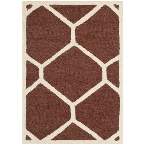 3 foot rugs safavieh cambridge brown ivory 2 ft x 3 ft area rug cam144h 2 the home depot
