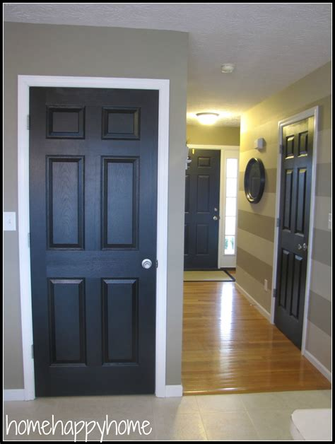 painted black interior doors 187 design and ideas