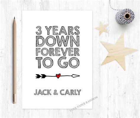 3rd wedding anniversary card uk 3rd anniversary card 3rd wedding anniversary card 3 years