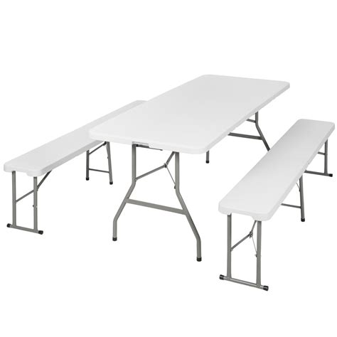 table et banc pliant table bancs cing pliable ensemble table buffet banc