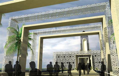 design gerbang masjid kotakitaku konsep desain masjid modern terapung alresala