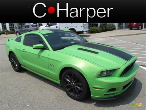 2013 mustang gt colors 2013 gotta it green ford mustang gt premium coupe