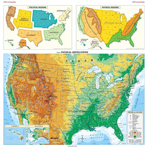 physical map of the united states for maps of the usa the united states of america map