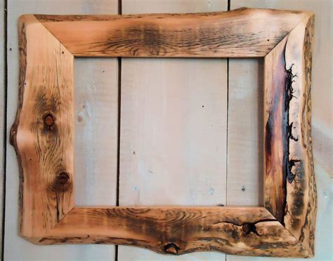 Handmade Wooden Frames - handmade rustic wood frame 11x14 clear poly