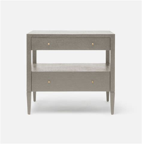 low bedside tables low large hilton cast resin raffia bedside table mecox