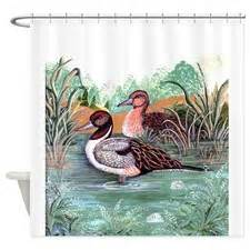 Mallard duck painting shower curtains mallard duck painting fabric
