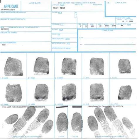 Fbi Background Check Fingerprint Locations Ink Card Fingerprint