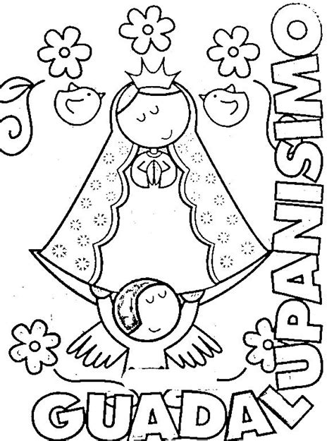 Virgen De Guadalupe Coloring Pages Coloring Home Our Of Guadalupe Coloring Page