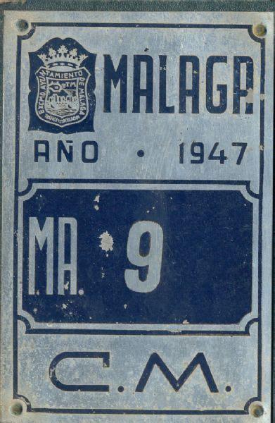 placas de carro en ingles museo policia placa de matr 237 cula de carro 1 947 malaga