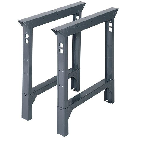 work bench height edsal 33 in h x 2 in w x 30 in d steel adjustable