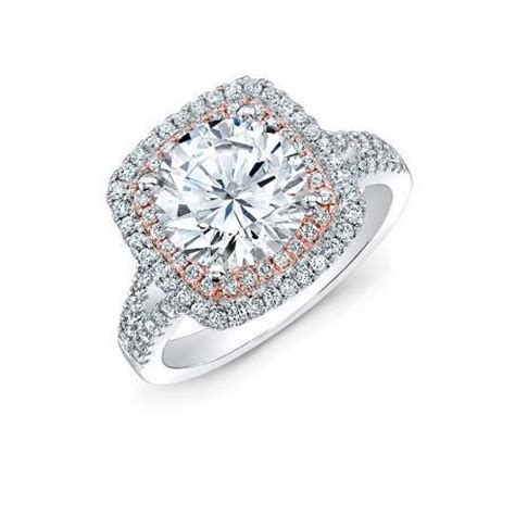 Classic Halo Ring 1197 natalie k 18k two tone gold halo engagement ring