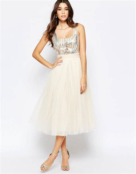 sequin midi dress with