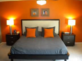 My orange and grey bed room on pinterest orange bedrooms orange and