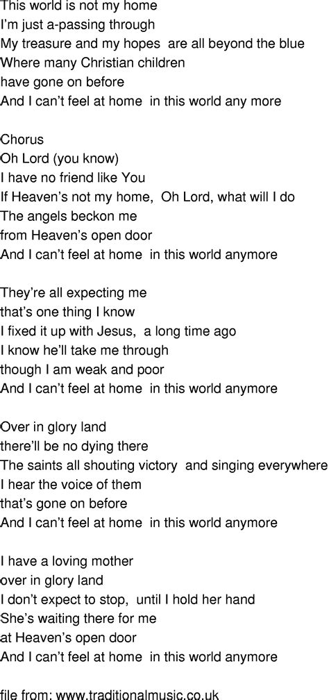 time song lyrics this world is not my home