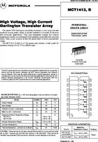 high current darlington transistor datasheet mct1413p datasheet high voltage high current darlington transistor array