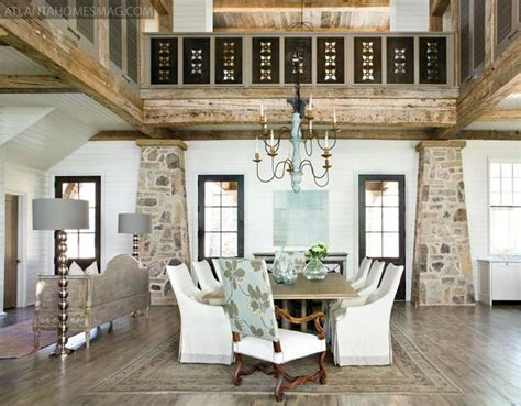 rustic and graceful lake house by tracery interiors