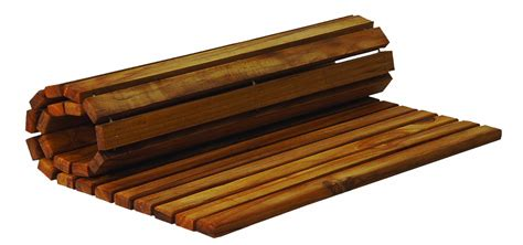 Roll Mat by A Teak Bath Mat Is A Functional And Beautiful Choice For