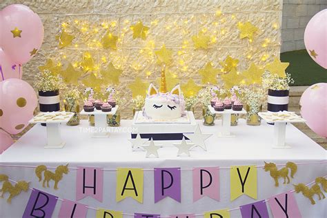 unicorn themed birthday party a unicorn birthday party time2partay com