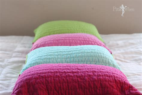 pillow in bed diy pillow bed tutorial pinkwhen