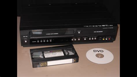 cassette vhs in dvd vhs transfer to dvd using combo recorder