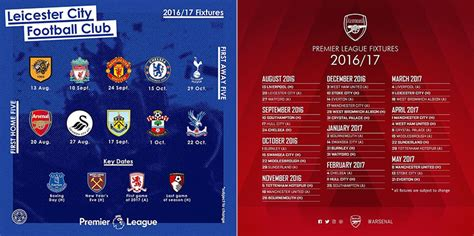 arsenal schedule top 10 must watch 2016 17 premier league matches soccer365
