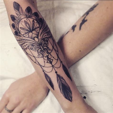 dreamcatcher tattoo inside arm beautiful dream catcher tattoo google search tattoos