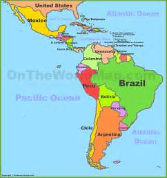 map of central and south america