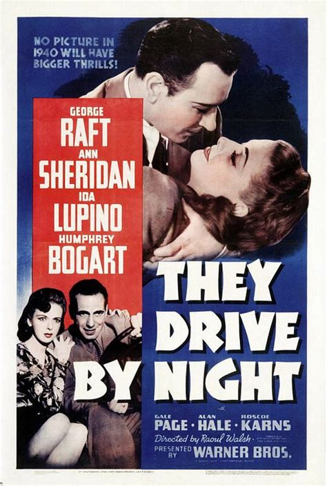 actor george of they drive by night they drive by night movie poster 1 of 8 imp awards