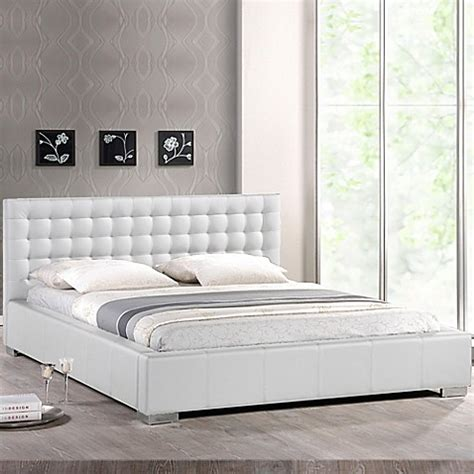 bed bath and beyond headboards baxton studio madison platform bed with tufted headboard