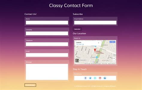 Classy Contact Form A Flat Responsive Widget Template Contact Us Page Template Html