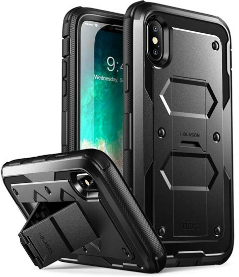 iphone  xs case  blason armorbox cover  tempered