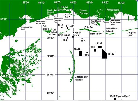 fishing reefs in gulf of mexico map