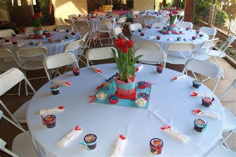 Handmade Centerpieces For Baby Shower by Table Settings At The Baby Shower We Handmade The