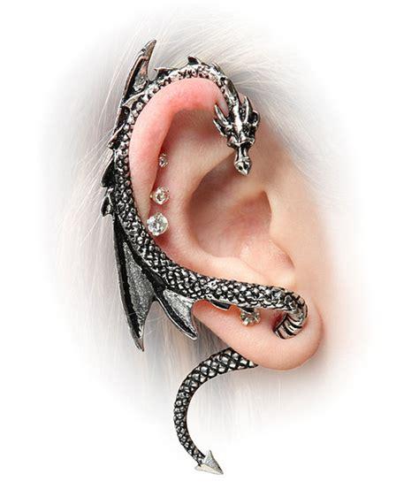 dragon tattoo body piercing dragon ear wrap