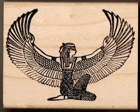 isis goddess tattoo winged what is seen cannot be unseen