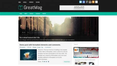 free xml themes download blogger greatmag blogger template btemplates