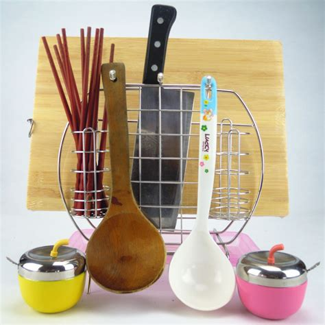 Kitchen Utensils Knife Holder Pink And Square Stainless Steel Knife Holder Kitchen
