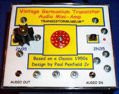 germanium transistor audio lifier transistor museum construction project germanium transistor audio paul penfield jr