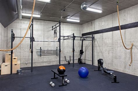 home gym studio design lakefront modern industrial home gym minneapolis