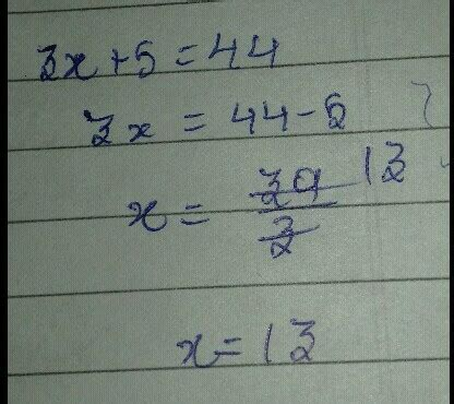 thrice of a number thrice a number when increased by 5 gives 44 find the