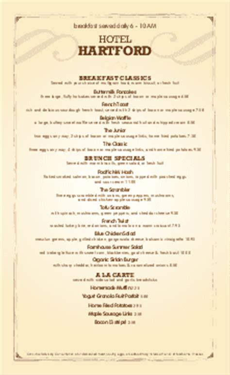 hotel menu template continental breakfast menu templates musthavemenus 27