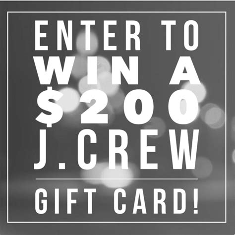 200 j crew gift card giveaway jenns blah blah blog tips trends for living the