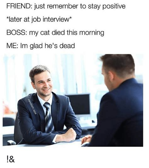 Job Interview Meme - funny stay positive memes of 2017 on sizzle unexpected