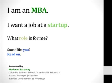 Mba Roles by Roles At Startups For Mbas