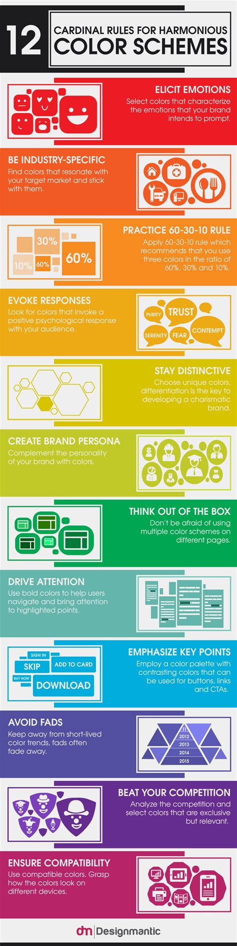 designmantic infographics tips for harmonious color schemes designmantic the